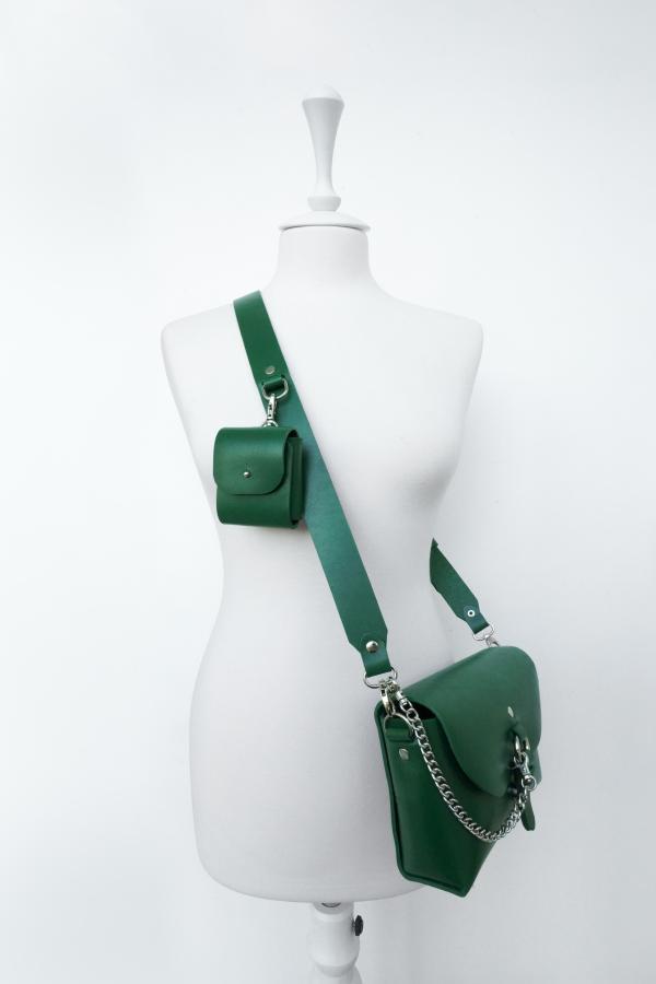 Сумочка Элара с кармашком (зеленая)